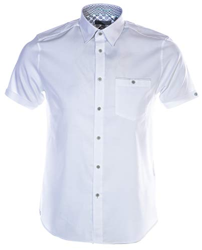 Ted Baker Wallaby Short Sleeve Shirt in White XL