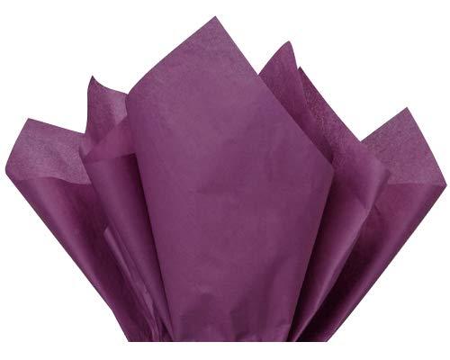 "Flexicore Packaging® | Gift Wrap Tissue Paper | Size: 15""x20"" | 10 Sheet | Acid Free Bulk | (Plum, 10 Sheets)"
