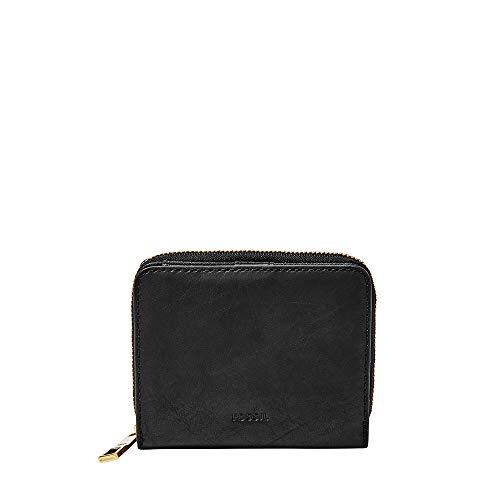 (Fossil Women's Emma RFID Mini Multifunction Wallet, Black, One Size)