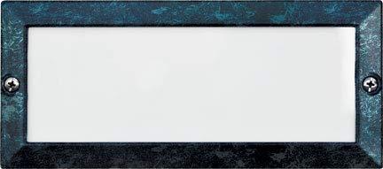 DABMAR LIGHTING LV602-VG Cast Aluminum Recessed Open Face Brick/Step/Wall Light, Verde Green