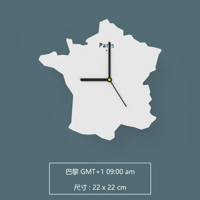 Amazon babyqueen european creative silence world map wallclock babyqueen european creative silence world map wallclock bedroom living room simple personality art decorative clock france gumiabroncs Choice Image