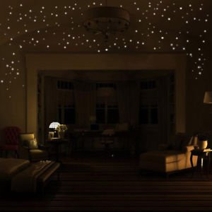 SLB Works Brand New Glow In The Dark Star Wall Stickers 407Pcs Round Dot Luminous Kids Home Decor US