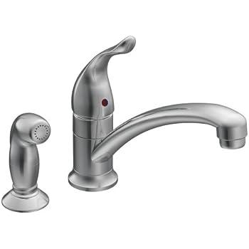 Moen 7437 Chateau Chrome One Handle Low Arc Kitchen Faucet