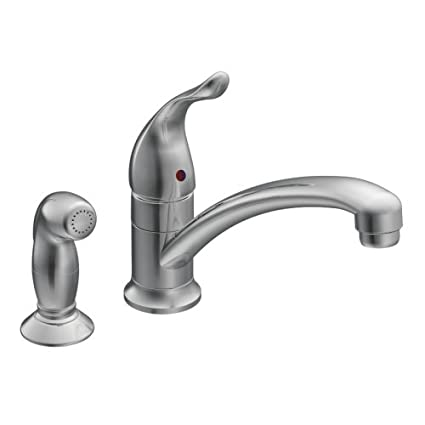 Moen 7437 Chateau Chrome One Handle Low Arc Kitchen Faucet