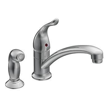 moen 7437 chateau chrome one handle low arc kitchen faucet - Moen Kitchen Sink Faucet