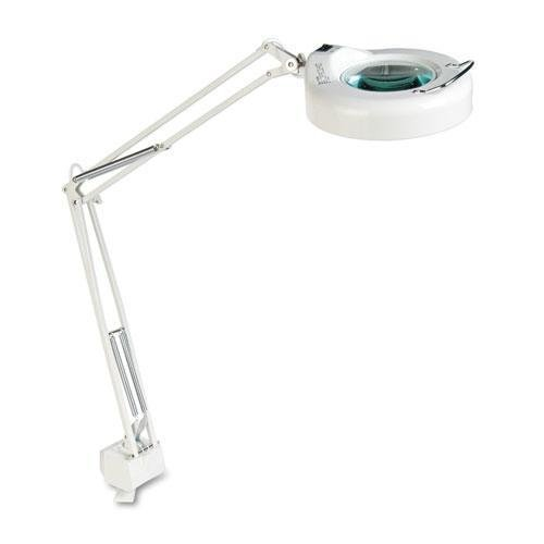 Clamp-On Fluorescent Swing Arm Magnifier Lamp, 5
