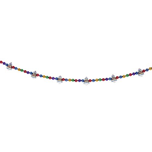 Bright Ornament (Radko Shiny Brite Traditional Brights 7FT Bell Shape Garland Glass Ornament)