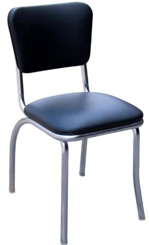 Merveilleux Diner Chair With 1u0026quot; Pulled Seat   Black