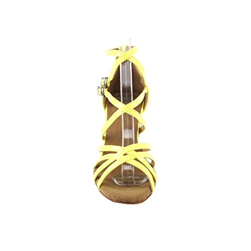 High Medium Yellow Pigeon Latin Gold Evening Latin Fluorescent Wedding Dress Heel Ballroom Shoes Shoes Swing Dance Shoes Pump Party Salsa Tango Salsa Grass SERA1700 Tango Swing Party Women Comfort Zawadf