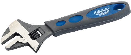 Draper Expert 24894 200mm Soft Grip Crescent Type Wrench by Draper
