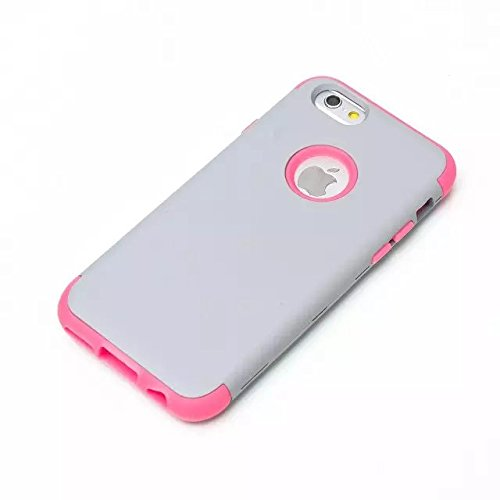 iPhone 6 Case , iPhone 6S Case, Lantier antichoc Case hybride triple couche de protection en plastique dur avec Housse silicone souple pour Apple iPhone 6 / 6S 4,7 pouces (Gray + Bleu)