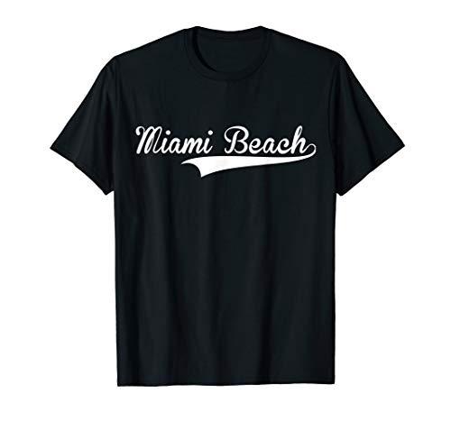 MIAMI BEACH Baseball Styled Jersey Tee Shirt Softball