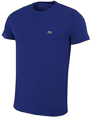 Men's Men's Cotton Crew Neck Navy T-Shirt in Size 4-M Navy