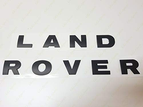 NEW 3M LETTERS HOOD OR TRUNK TAILGATE NAMEPLATE EMBLEM Fit For LAND ROVER (black)