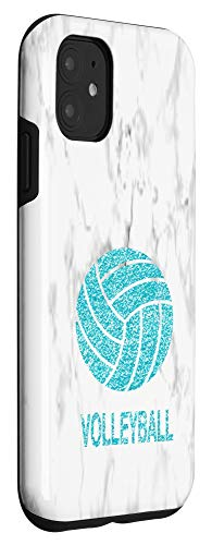 iPhone 11 Aqua Blue Teal Volleyball Design for Girls Teens Case