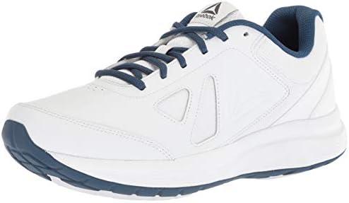 Reebok Men's Walk Ultra 6 DMX MAX Sneaker, WhiteWashed Blue
