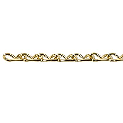Perfection Chain Products 33301 #14 Single Jack Chain, Brass Brite, 10 FT Bag: Industrial & Scientific