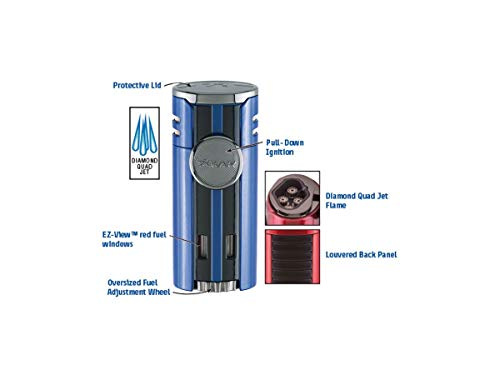 High Performance HP4 Quad Flame Cigar Lighter in an Attractive Gift Box Lifetime Warranty Gunmetal 2 by Xikar (Image #1)