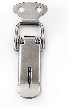 Tyou ステンレススプリングロードトグルケースボックスツールボックス、引き出し、キャビネット用のスプリングクランプクリップ4パック