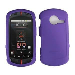 For Verizon Casio G'zone C771 Accessory - Purple Hard Case Proctor Cover + Lf Stylus Pen