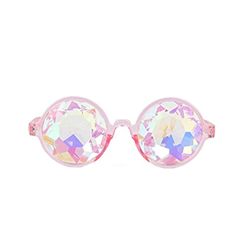 Rainbow Kaleidoscope Rave Festival Party EDM Diffracted Lens Glasses AU Sunglasses - Sunglasses Au