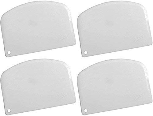 Ateco 14578 Bowl Scraper, Pack of 4, White