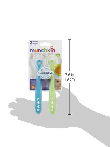 Munchkin 27106 Silicone Spoons, 2-Pack (Colors May Vary)