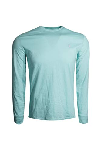 Polo Ralph Lauren Mens Long Sleeve Pony Logo T-Shirt (Seafoam Green/Lavender Pony,Medium)