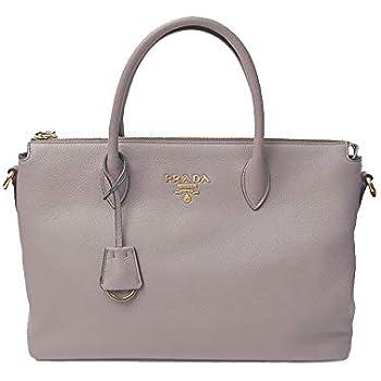 068632fbafe1 Amazon.com: Prada Women's Vitello Phenix Handbag 1ba063 Gray Leather ...