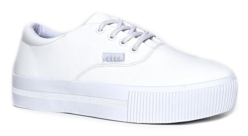 Sugar Sneakers, White, 5 B(M) - Edgy Kylie Style Jenner