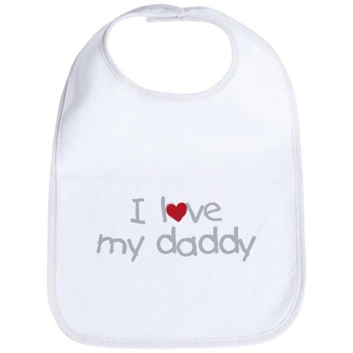 CafePress I Love My Daddy Bib Cute Cloth Baby Bib, Toddler Bib