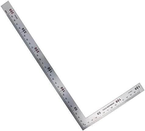 uxcell Angle Ruler 150x300mm Stainless Steel Scale L Framing Square 90 Degree Measuring Layout Tool for Carpenter Engineer