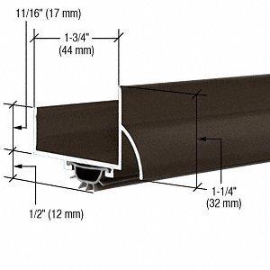 CRL Dark Bronze Anodized ''U'' Shape Door Bottom - 48'' by CR Laurence