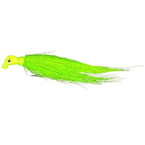 - Calcutta CUJT0218-10F Bucktail Ultra Nylon Hair Jig with Mustad Hook, Neon Green