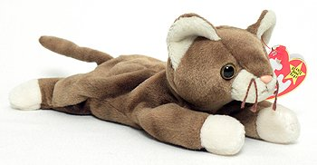 208fdcf6785 Amazon.com  TY Beanie Babies Pounce the Cat Stuffed Animal Plush Toy ...