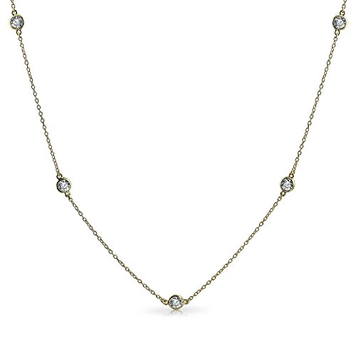 Minimalist Simple CZ By The Yard Tin Cup Chain Necklace 14K Gold Plated 925 Sterling Silver 16 18 20 24 36 In