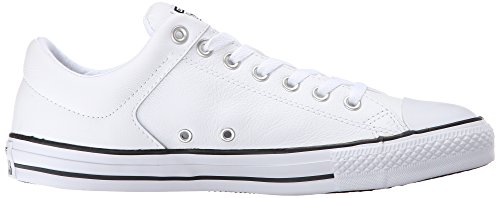 Converse Men's Street Leather Low Top Shoe, White/Black/White, 8.5 M US