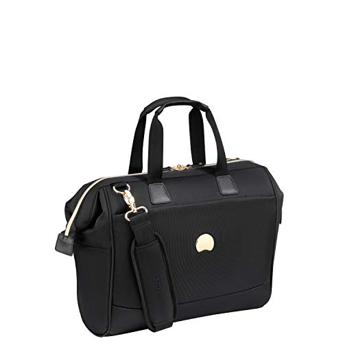 Delsey Briefcase - Delsey Paris Montrouge Briefcase, 46 cm, 18.8 liters, Black