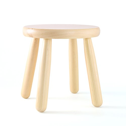 LQQGXL European chair Solid wood stool, change shoes stool practical home non-slip sit stool low stool fashion small bench by LQQGXL