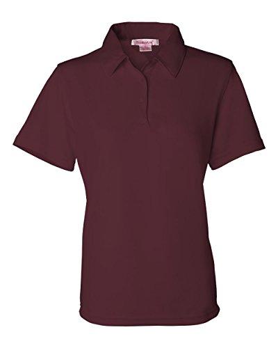 FeatherLite Ladies' Moisture Free Mesh Sport Shirt, Maroon, Large