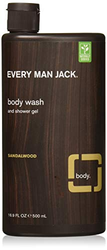 Every Man Jack Body Wash, Sandalwood, 16.9 Fluid Ounce (Pack Of 2)