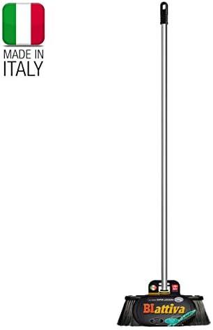 Cerda doble Escoba interiores mango de aluminio La altura total de 140 cm 100/% made in Italy Muy muy luz