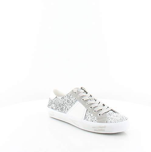 Sam Edelman Women's Baylee Sneaker, Soft Silver/Fog Grey, 8.5 Medium US