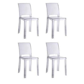 Juego de 4 sillas Design Futura en policarbonato ...