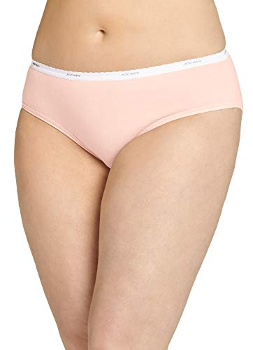 Jockey Women's Underwear Plus Size Classic Hipster - 3 Pack, Soft Peach, 10