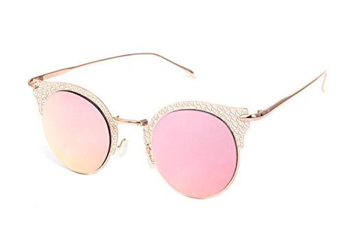 Hollow Lunettes Frame Huyizhi Unisexe de Lunettes soleil voyager Cool de Mode de Pink soleil Lunettes soleil wEq4SaqW