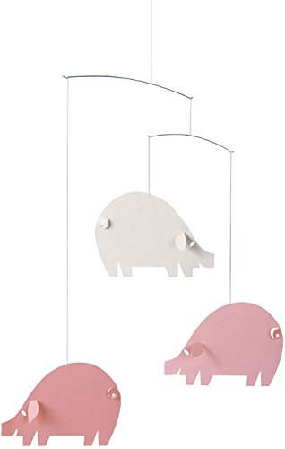 (Flensted Mobiles Piggy Pink/Light Blue Hanging Nursery Mobile - 18 Inches Cardboard)