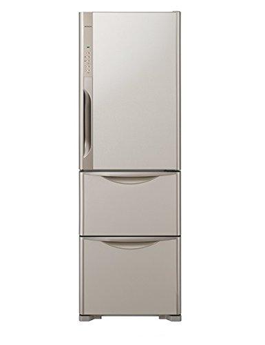 日立 【右開き】365L 3ドアノンフロン冷蔵庫 真空チルド ライトブラウン R-K370FV-T   B00U76P11U