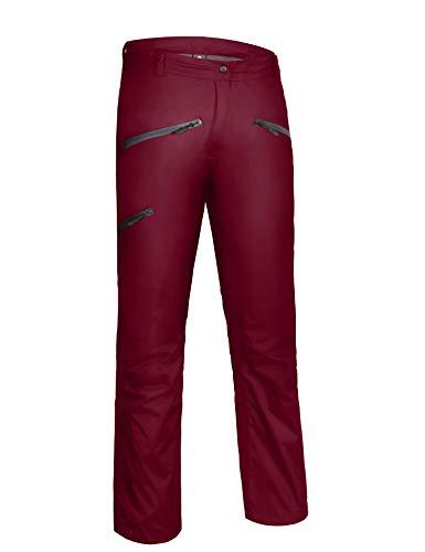 (Little Donkey Andy Women's Waterproof Mountain Pants, Rain Pants Red Size)