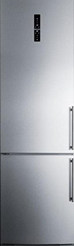 Ffbf181eslhd 24 Bottom Freezer Refrigerator With 12 8 Cu  Ft  Capacity Digital Thermostat A Wine Rack Zerozone Deli Drawer And High Temperature Alarm In Stainless Steel With Left Hinge